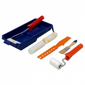 BRAND NEW DECORATORS ROLLER & BRUSH SET 9PCE DECORATING PAINTING PAINT DIY P194