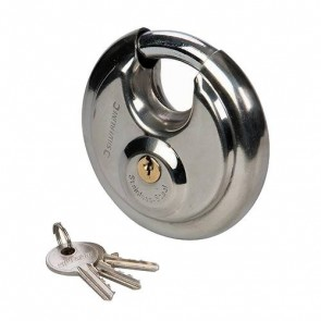 BRAND NEW DISC PADLOCK 70 MM SECURITY 21 x 12 x 9.5 MM STAINLESS STEEL P310