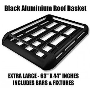 Large Black Aluminium Roof Rack Basket Tray Luggage Cargo Carrier with Bars 4x4 van fits disovery landrover Ford Transit Toyota XL-B