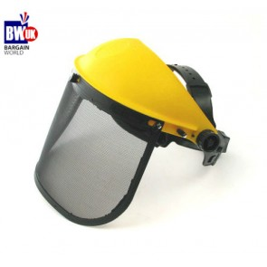 Mesh Face Shield Protection Safety Visor Shredder Gardening Helmet Visor S4
