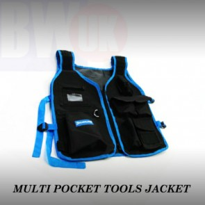 High Quality light nylon Adjustable Tool Jacket multiple pocket zip carrier -S48