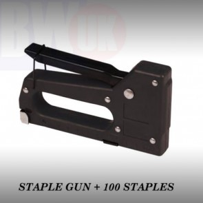 HIGH QUALITY STAPLE GUN + 100 STAPLES UPHOLSTERY TACKER DIY FABRIC STAPLER -S50