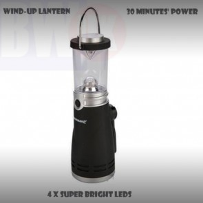 WIND UP 4 LED LANTERN LAMP LIGHT TORCH CAMPING CAR CARAVAN BOAT EMERGENCY S56