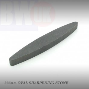 "9"" 225mm OVAL BOAT SHAPED COMBINATION SHARPENING STONE FOR TOOLS KNIVES AXES S69"