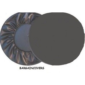 Semi Rigid Plastic Hard Black Wheel cover rear spare tyre wheelcover to fit all 4x4 and caravans