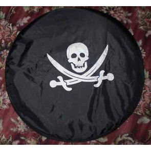 SKULL BONES DANGER Wheel cover rear spare tyre wheelcover to fit all 4x4 and caravans