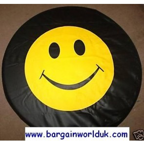 Smiley Yellow Face Chat internet Wheel cover rear spare tyre wheelcover to fit all 4x4 and caravans