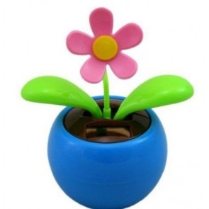 Solar flower dancing flip flap car motion ornament window moving leaves pot NEW!