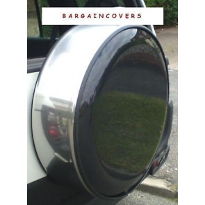 Chrome Stainless Steel Steel Metal ring tyre tire 4x4 rear spare wheel cover wheelcover with lock and keys