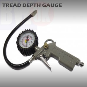 CAR CYCLE TYRE TIRE AIR INFLATOR DIAL PRESSURE DEPTH METER GAUGE COMPRESSOR T16