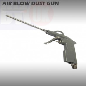 Long Nozzle Air Blow Dust Gun Precision Dusting 1/4 BSP Aluminium Pistol T22