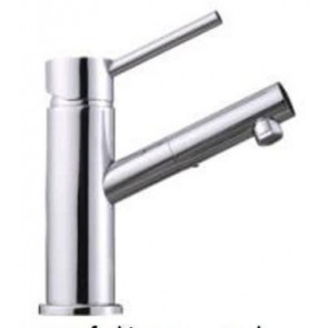 KITCHEN BASIN SINK MIXER TAP HOT SINGLE LEVER MONOBLOC CHROME FAUCET T4 -SOLID