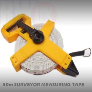 Open Reel Fibreglass Measuring Tape Surveyors 50m Long Reel 50 Meters T9