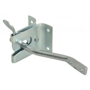 FORGE AUTO GATE GARDEN LATCH CATCH LOCK / STRIKER SILVER POWDER COATED TB-FOR6