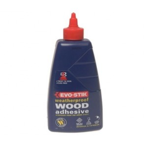 EVO-STIK Wood Adhesive GLUE Weatherproof strong QUICK DRY BOND big 500ml TB-EVE6