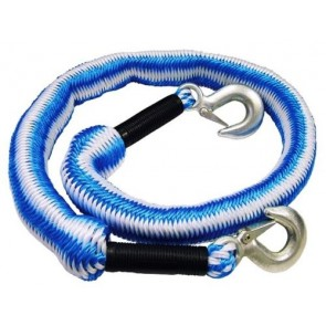 3 Ton Elasticated Car Tow Towing Rope Expanding Recovery Break Down 4m T30 TB-FAI6