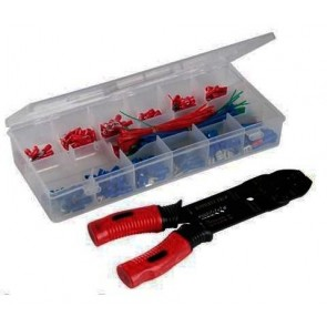 Crimping Tool Set 271 pc Assorted Electrical Terminals Pliers Electrician U14