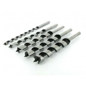 SDS AUGER DRILL BIT SET STEEL HEX SPIRAL 5 PIECE WOOD 10mm - 25mm U28