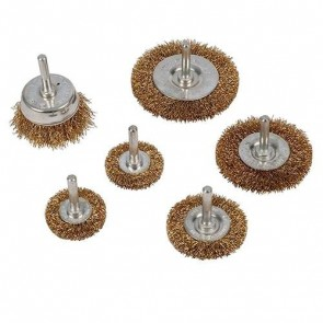 BRAND NEW WIRE WHEEL & CUP BRUSH SET 6PK 6 MM SHANK POWER TOOL ACCESSORY U325